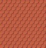 Bezszwowe gliny dachu płytki ilustracja wektor