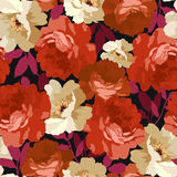 bezszwowe kwieciste deseniowe róże Obraz Stock