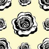Bezszwowe monochromu wzoru róże na lekkim tle wektor Fotografia Royalty Free