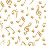 bezszwowe muzyczne notatki Obrazy Royalty Free