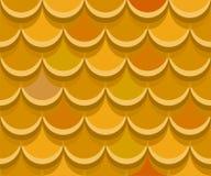 Bezszwowe ocher gliniane dachowe płytki kolorowych deseniowych planowanymi różnych możliwych wektora Zdjęcie Stock