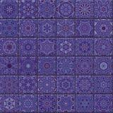 Bezszwowe ornamentacyjne płytki Fotografia Stock