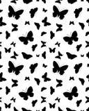 Bezszwowe sylwetki motyle Zdjęcie Stock
