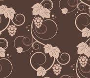 bezszwowe tło winorośle royalty ilustracja