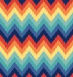 Bezszwowego abstrakta zygzag falowy wzór Fotografia Royalty Free