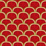 Bezszwowego arbuza Wektorowy ilustracyjny tło Obrazy Royalty Free