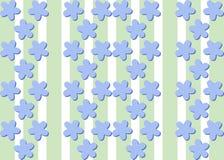 Bezszwowego dekoracyjnego lna kwiatu błękitnawy wzór Fotografia Royalty Free