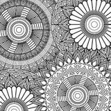 Bezszwowego deseniowego kwiecistego abstrakcjonistycznego rocznika elementu dekoracyjnego tła dorosła kolorystyka Fotografia Royalty Free