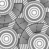 Bezszwowego deseniowego kwiecistego round abstrakcjonistycznego rocznika elementu dekoracyjnego tła dorosła kolorystyka Zdjęcia Royalty Free