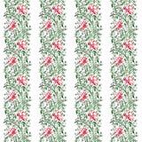 Bezszwowego deseniowego ornamentu openwork delikatni kwiaty, liście z i zielenieją fiołkowego neonowego czerń royalty ilustracja