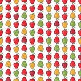 Bezszwowego deseniowego tła kolorowi jabłka Obraz Stock