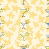 Bezszwowego deseniowego tła alkoholiczni napoje Alkoholu wektor martini Obraz Royalty Free