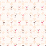 Bezszwowego deseniowego tła alkoholiczni napoje Alkoholu wektor tequila Fotografia Royalty Free
