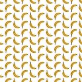 Bezszwowego deseniowego tła dojrzali banany Obrazy Royalty Free