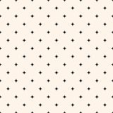 Bezszwowego Deseniowego Wektorowego tła Minimalne płytki lub tkaniny Koszulowa tekstura z gwiazdami ilustracji