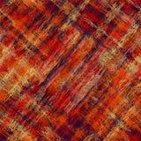 Bezszwowego diagonalnego grunge pasiasty w kratkę kolorowy wzór Zdjęcia Stock