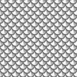 Bezszwowego grayscale rzeczny rybi waży Zdjęcia Royalty Free