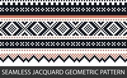 Bezszwowego jacquard geometryczny wzór w wektorowej grafice Obraz Royalty Free