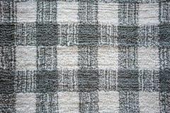 Bezszwowego krzyża wzoru monochromu tekstury popielaty dywanowy tło obraz stock