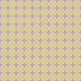 Bezszwowego kwadrata wzoru żółty błękit Zdjęcia Stock