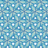 Bezszwowego liścia kwiecisty wzór Obrazy Royalty Free