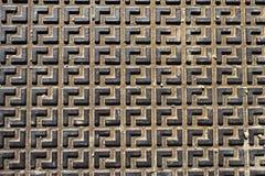 Bezszwowego metalu podłogowy talerz obraz royalty free