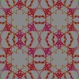 Bezszwowego miarowego sześciokąta wzoru czerwone fiołkowe szarość Zdjęcia Royalty Free