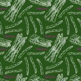 Bezszwowego nakreślenia dojrzały asparagus ilustracji