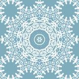 Bezszwowego okręgu ornamentu błękitnych szarość koronki biały wzór ilustracja wektor
