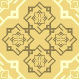 Bezszwowego ornamentu Cappuccino Brown wzoru płytki tekstury wektoru Kawowy Powtórkowy tło ilustracja wektor