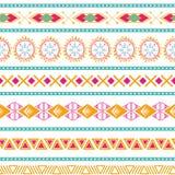 Bezszwowego plemiennego etnicznego wektoru wzoru azteka abstrakcjonistycznego tła Meksykańska ornamentacyjna tekstura w jaskrawej Zdjęcie Royalty Free