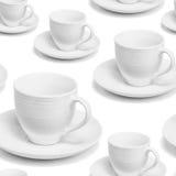 Bezszwowego powtórka wzoru porcelany biała filiżanka Zdjęcia Royalty Free