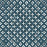 Bezszwowego rocznika duży i mały kwiatu wzoru tło Zdjęcia Royalty Free