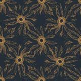 Bezszwowego rocznika kwiatu wektoru wzoru śliczny tło ilustracja wektor