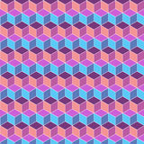 Bezszwowego sześcianu koloru płaski tło Obrazy Royalty Free