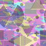 Bezszwowego tła geometryczni kształty Zdjęcia Royalty Free