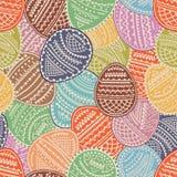 Bezszwowego tła Wielkanocni jajka z ornamentami również zwrócić corel ilustracji wektora ilustracja wektor