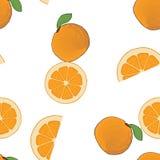 Bezszwowego tło wzoru cała, pokrojona pomarańcze pomarańczowa, Zdjęcia Royalty Free