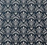 Bezszwowego tapetowego tła rocznika kwiecisty czerń Obraz Stock
