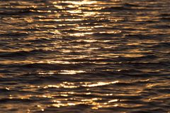 Bezszwowego tekstura Ciepłego koloru zmierzchu wody Olśniewająca powierzchnia Zdjęcie Royalty Free