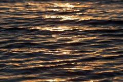 Bezszwowego tekstura Ciepłego koloru zmierzchu wody Olśniewająca powierzchnia Zdjęcie Stock