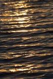 Bezszwowego tekstura Ciepłego koloru zmierzchu wody Olśniewająca powierzchnia Zdjęcia Royalty Free