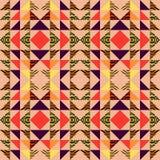 Bezszwowego trójboka wzoru abstrakcjonistyczny tło z geometrycznym tekstury Memphis pastelem modnym fotografia royalty free