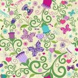 Bezszwowego valentine żywy wzór Zdjęcie Royalty Free