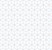 Bezszwowego wireframe tła kubiczna abstrakcjonistyczna geometryczna isometric deseniowa tekstura royalty ilustracja