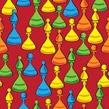 Bezszwowego wzoru barwiony szachy ilustracji