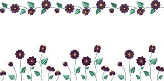 2 Bezszwowego wzoru Ustawiają w pastelowych kolorach z kwiatami i pluskwami ilustracja wektor