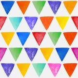 Bezszwowej abstrakcjonistycznej akwareli trójgraniasty tło Obrazy Stock