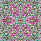 Bezszwowej abstrakta wzoru kalejdoskopowej mozaiki ornamentacyjny druk Obrazy Royalty Free