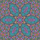 Bezszwowej abstrakta wzoru kalejdoskopowej mozaiki ornamentacyjny druk Obraz Stock